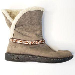 Keen Galena Mid Grey Snow Boot Nubuck S24